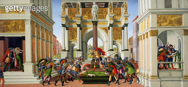 <b>Title</b> : The Tragedy of Lucretia, c.1500-01 (oil on panel)Additional Infoestablished the Republic of Rome; comment on the overthrow of th<br><b>Medium</b> : oil on panel<br><b>Location</b> : Isabella Stewart Gardner Museum, Boston, MA, USA<br> - gettyimageskorea