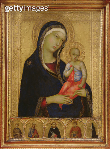 <b>Title</b> : The Madonna and Child with Saints and a Donor (tempera on panel)Additional Infoformerly attr. to Lippo Memmi (fl.1317-47);<br><b>Medium</b> : tempera on panel<br><b>Location</b> : Isabella Stewart Gardner Museum, Boston, MA, USA<br> - gettyimageskorea