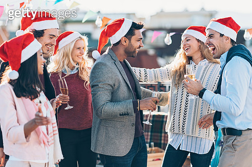 Meeting friends for Christmas - gettyimageskorea