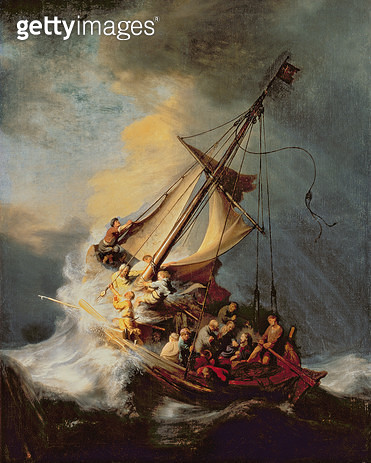 <b>Title</b> : The Storm on the Sea of Galilee, 1633 (oil on canvas)Additional Infofrom the museum March 18th 1990;<br><b>Medium</b> : oil on canvas<br><b>Location</b> : Isabella Stewart Gardner Museum, Boston, MA, USA<br> - gettyimageskorea