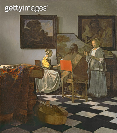 <b>Title</b> : The Concert, c.1658-60 (oil on canvas)Additional Infofrom the museum March 18th 1990;<br><b>Medium</b> : oil on canvas<br><b>Location</b> : Isabella Stewart Gardner Museum, Boston, MA, USA<br> - gettyimageskorea