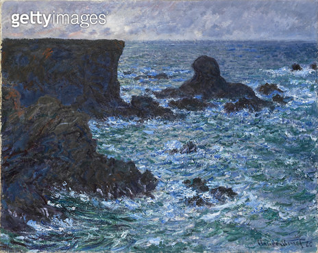 <b>Title</b> : Rocks at Port Coton, the Lion Rock, 1886 (oil on canvas)<br><b>Medium</b> : oil on canvas<br><b>Location</b> : Fitzwilliam Museum, University of Cambridge, UK<br> - gettyimageskorea