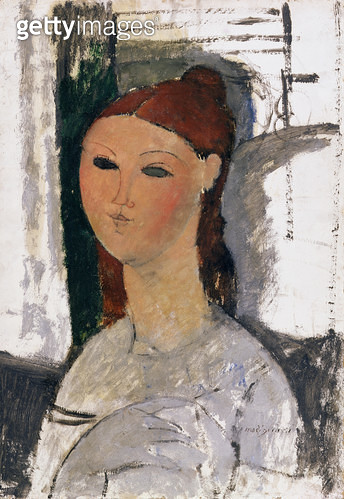 <b>Title</b> : Young Woman, Seated, c.1915 (oil on canvas)<br><b>Medium</b> : oil on canvas<br><b>Location</b> : Fitzwilliam Museum, University of Cambridge, UK<br> - gettyimageskorea