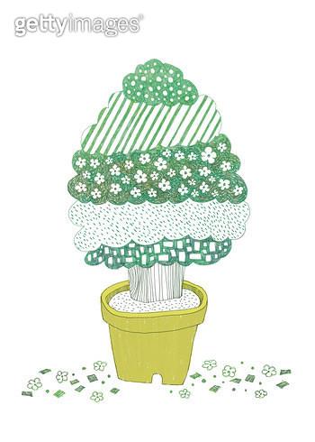 나무 화분 - gettyimageskorea