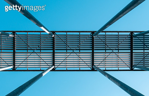 Low Angle View Of Metallic Structure Against Sky - gettyimageskorea