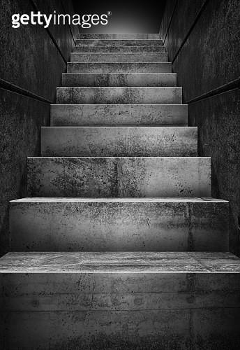 Empty concrete staircase - gettyimageskorea