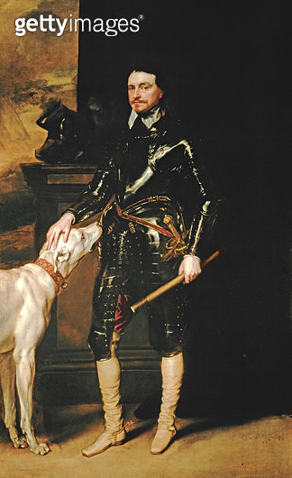 <b>Title</b> : Thomas Wentworth, 1st Earl of Strafford (1593-1641) 1633-6 (oil on canvas)<br><b>Medium</b> : oil on canvas<br><b>Location</b> : Private Collection<br> - gettyimageskorea