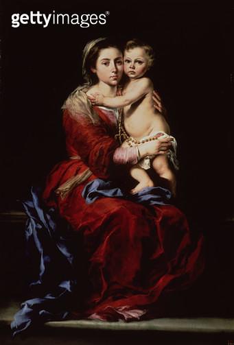 <b>Title</b> : The Virgin of the Rosary, c.1650 (oil on canvas)<br><b>Medium</b> : oil on canvas<br><b>Location</b> : Prado, Madrid, Spain<br> - gettyimageskorea