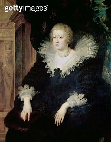 <b>Title</b> : Portrait of Anne of Austria (1601-66) c.1622 (oil on canvas)<br><b>Medium</b> : oil on canvas<br><b>Location</b> : Prado, Madrid, Spain<br> - gettyimageskorea