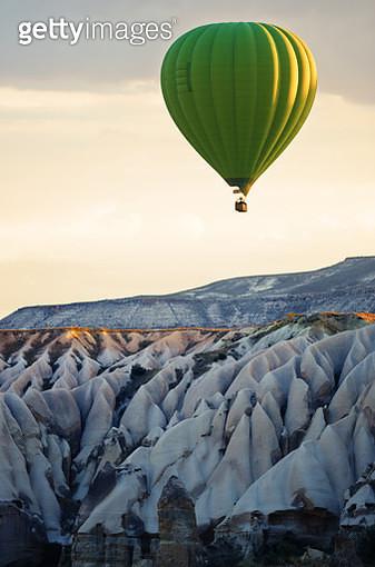 Air balloon flying of the Cappadocia rocks - gettyimageskorea