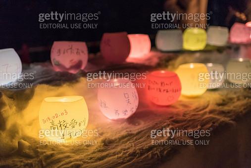 Jozankei Onsen Yukitouro Snow Candle Festival wish making candles detail - gettyimageskorea
