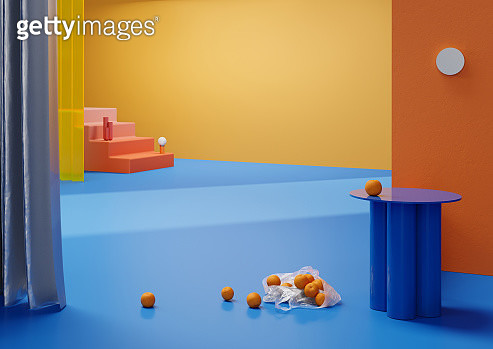 Orangees in plastic bag - gettyimageskorea