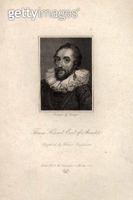 <b>Title</b> : Thomas Howard, Earl of Arundel (1585-1646), engraved by Francis Engleheart, 1821 (engraving)<br><b>Medium</b> : engraving<br><b>Location</b> : Private Collection<br> - gettyimageskorea