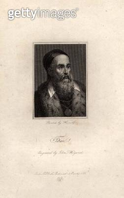 <b>Title</b> : Portrait of Titian, engraved by John T. Wedgwood, 1822 (engraving)<br><b>Medium</b> : engraving<br><b>Location</b> : Private Collection<br> - gettyimageskorea