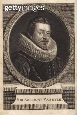 <b>Title</b> : Sir Anthony van Dyck (1599-1641) (engraving)<br><b>Medium</b> : engraving<br><b>Location</b> : Private Collection<br> - gettyimageskorea