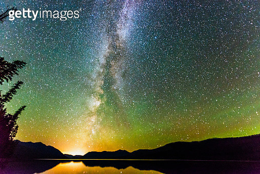 Majestic Night Sky Illuminated with Stars and Milky Way Landscape - gettyimageskorea
