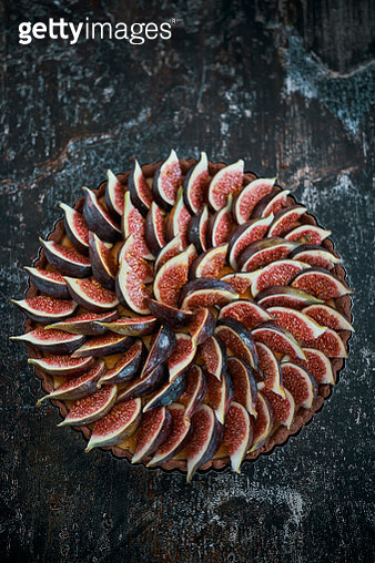 Fig Tart with Cream Cheese - gettyimageskorea