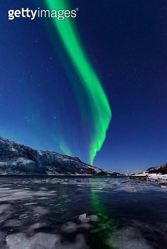 Aurora Northern Polar light in night sky over Northern Norway - gettyimageskorea