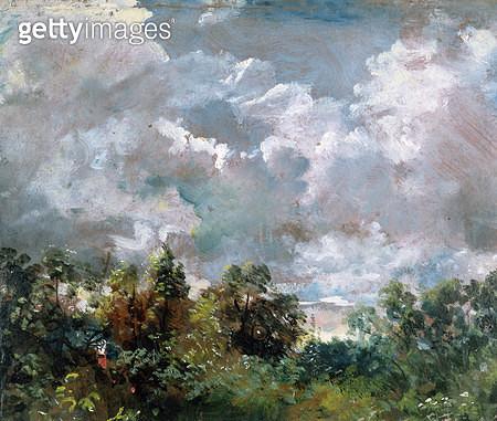 <b>Title</b> : Study of Sky and Trees (oil on canvas)<br><b>Medium</b> : <br><b>Location</b> : Victoria & Albert Museum, London, UK<br> - gettyimageskorea