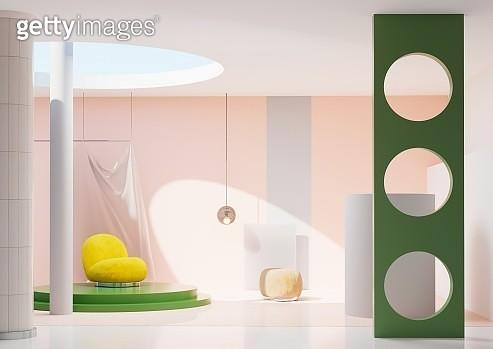 Gentel pink showroom - gettyimageskorea