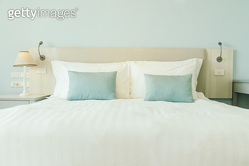 Pillows On Bed In Bedroom - gettyimageskorea