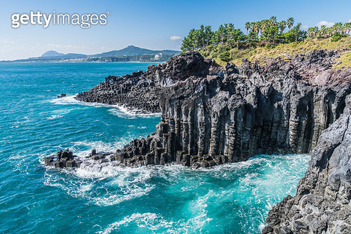 Landscape of Jusangjeolli Cliff (Korea Natural Monument 443) in Jeju - gettyimageskorea