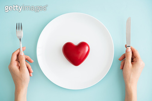 Heart Shape, Plate, Dinner, Healthy Eating, Simplicity - gettyimageskorea