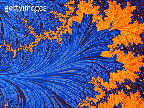 Dark Blue and yellow abstract background which patterns remind of change seasons autumn and winter, volcano steam - gettyimageskorea