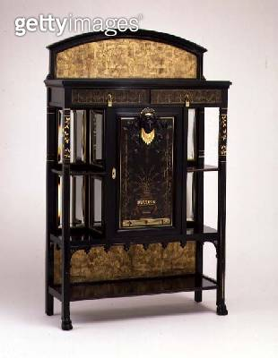 <b>Title</b> : Cabinet with painted and gilded decoration, manufactured by the Herter brothers, 1875-1880 (ebonised cherry)<br><b>Medium</b> : ebonised cherry<br><b>Location</b> : The Detroit Institute of Arts, USA<br> - gettyimageskorea