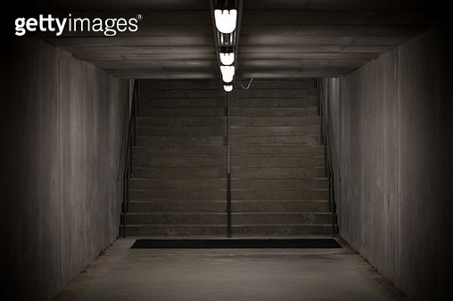 Staircase in underground passage - made from concrete material - gettyimageskorea