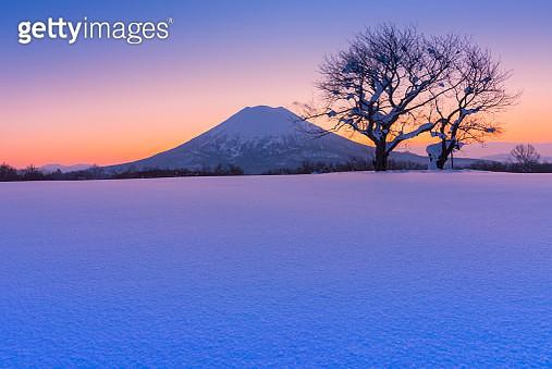 Sunlight and Mt Yotei, Hokkaido, Japan - gettyimageskorea