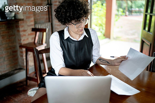 Woman working/studying at home - gettyimageskorea