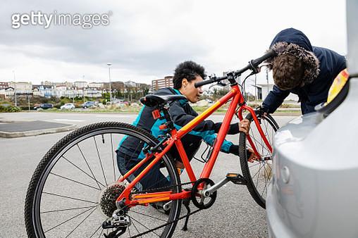 Getting The Bike Ready - gettyimageskorea