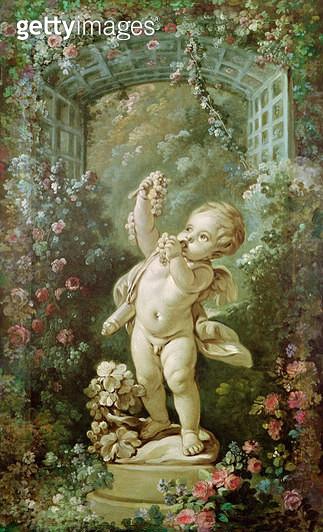 <b>Title</b> : Cupid with Grapes (oil on canvas)<br><b>Medium</b> : oil on canvas<br><b>Location</b> : Musee de la Ville de Paris, Musee Carnavalet, Paris, France<br> - gettyimageskorea