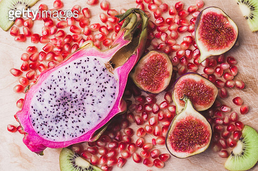 Close-Up Of Fruits On Table - gettyimageskorea
