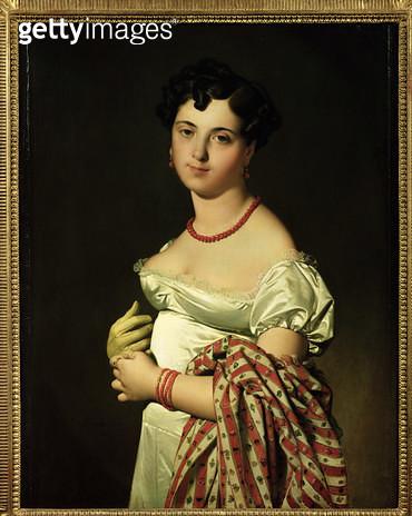 <b>Title</b> : Madame Henri-Philippe-Joseph Panckouke (1787-1865) 1811 (oil on canvas)<br><b>Medium</b> : oil on canvas<br><b>Location</b> : Louvre, Paris, France<br> - gettyimageskorea