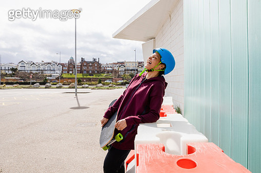 Having Fun with Skateboarding - gettyimageskorea