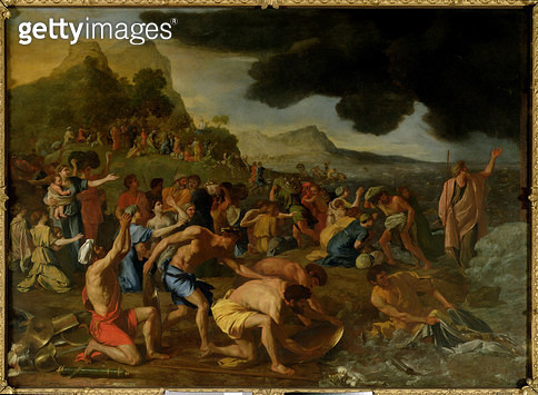 <b>Title</b> : The Crossing of the Red Sea, c.1634 (oil on canvas)<br><b>Medium</b> : oil on canvas<br><b>Location</b> : National Gallery of Victoria, Melbourne, Australia<br> - gettyimageskorea