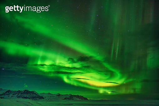 Northern Lights, Southern Iceland - gettyimageskorea