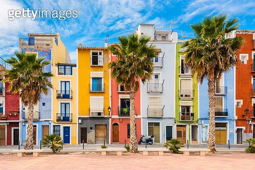 Village of Villajoyosa, Costa Blanca, Spain at springtime. - gettyimageskorea