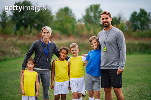 Small boys and girls before or after a training. - gettyimageskorea