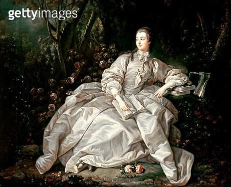 <b>Title</b> : Madame de Pompadour (1721-64) (oil on canvas)<br><b>Medium</b> : oil on canvas<br><b>Location</b> : Private Collection<br> - gettyimageskorea