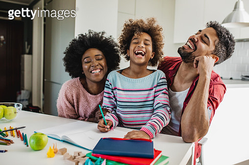 Parents learning with child - gettyimageskorea