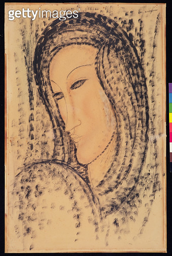 <b>Title</b> : Portrait of a Young Widow, c.1910 (w/c and pencil on paper)<br><b>Medium</b> : watercolour and pencil on paper<br><b>Location</b> : Museus Castro Maya, Rio de Janeiro, Brazil<br> - gettyimageskorea