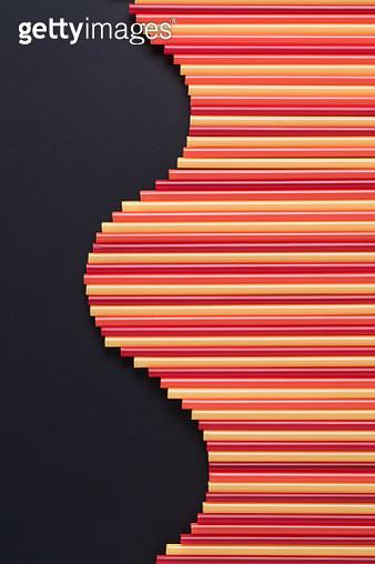 Abundance of Drinking Straws Wave Pattern - gettyimageskorea