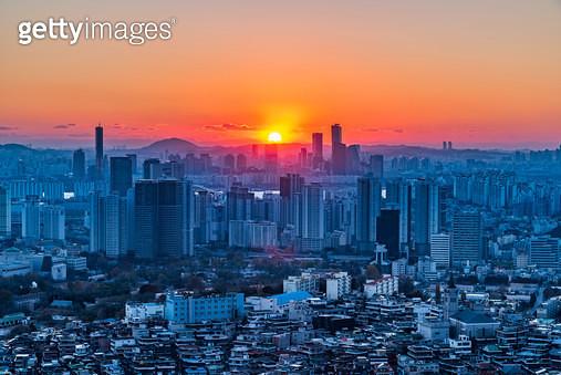 서울 일몰, 서울특별시 - gettyimageskorea