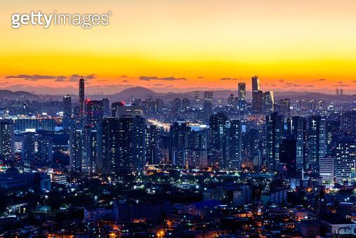 서울 야경, 서울특별시 - gettyimageskorea