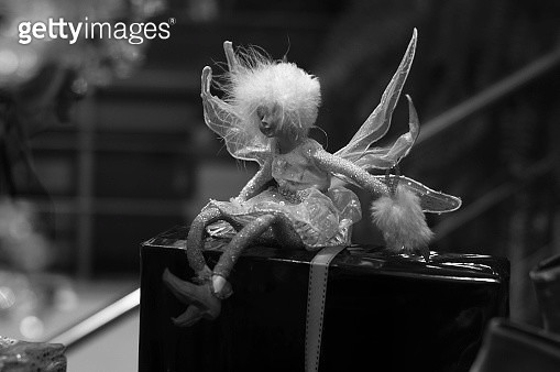 Close-Up Of Doll And Gift Box - gettyimageskorea