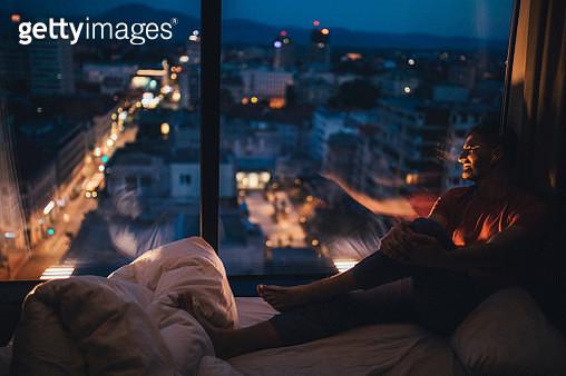 Guy enjoying the view - gettyimageskorea