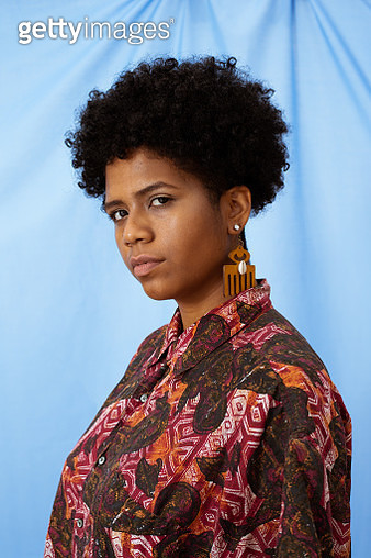 Portrait of an African American young woman - gettyimageskorea